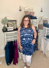 Load image into Gallery viewer, Azules Tie Dye A-Line Sleeveless Tunic