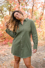 Load image into Gallery viewer, Looking For You Frayed Hem Tunic Dress