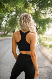 Shine And Shimmer Racerback Sports Bra