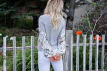 Load image into Gallery viewer, Garden Gal Contrast Top- Grey
