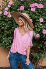 Load image into Gallery viewer, Season's Of Love Drape Top- Dusty Pink
