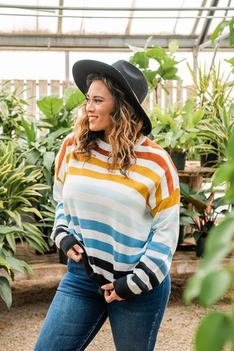 Take A Leap Striped Sweater