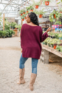 So in Love Pullover Sweater- Merlot