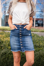 Load image into Gallery viewer, You Go Girl Button Up Denim Skirt- Medium Wash