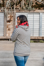 Load image into Gallery viewer, Ampersand Avenue DoubleHood Sweatshirt - Tan Stripe & Buffalo