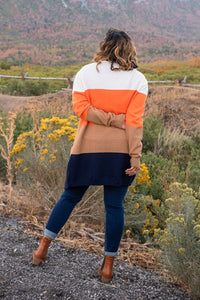 Autumn Wishes Color Block Cardigan Pre-Order