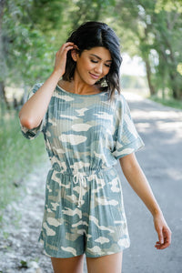 Close To You Camo Romper