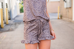 Spirit Animal Leopard Short Set