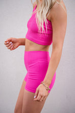 Load image into Gallery viewer, Essential Crop Racerback Tank Top- Pink