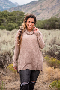 The One You Want Cowl Neck Sweater