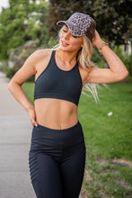 Load image into Gallery viewer, Solid Cutout Racerback Sports Bra