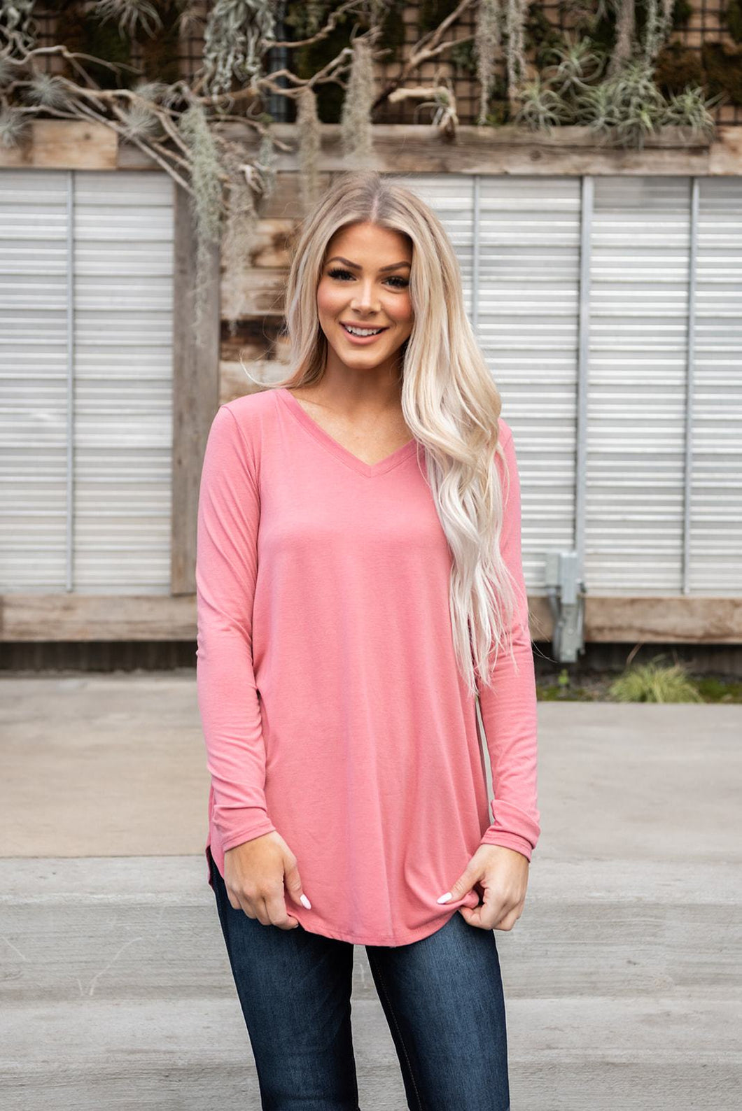 Simple As That Tee - Dusty Rose