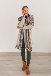 Aztec Dreams Fringe Cardigan