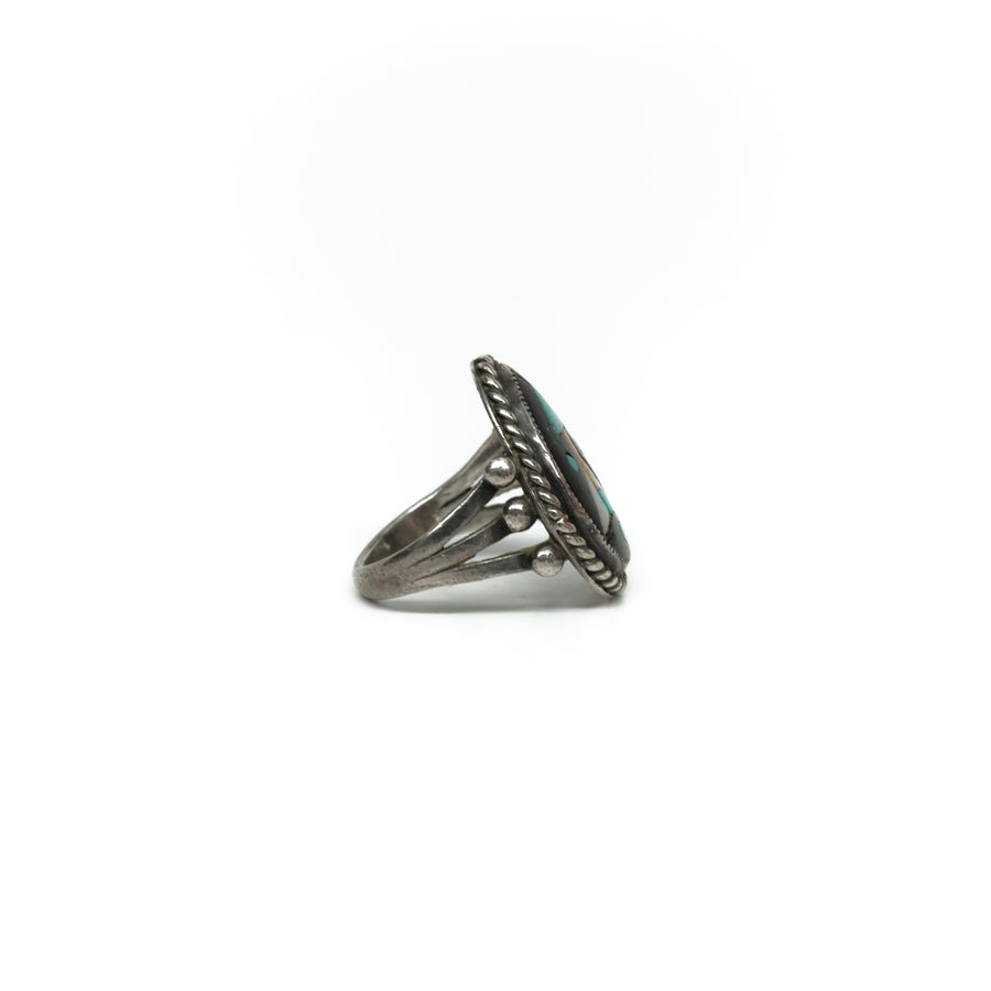 1940s ARROW INLAY RING