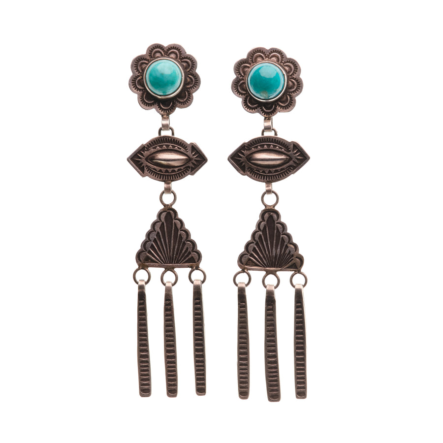 FRITSON TOLEDO THREE TIERED EARRINGS