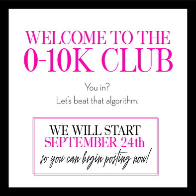 Our NEW 0-10K Club!