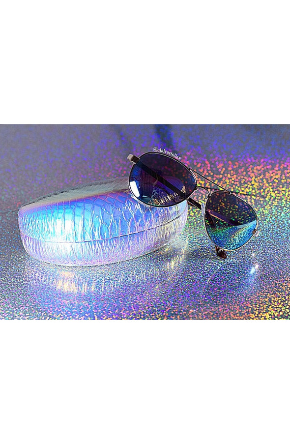 Hologram Sunglasses Case - Milky Way