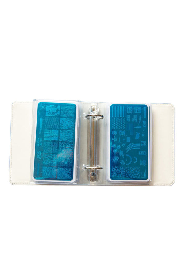 Mini Holographic Nail Stamp Storage Binder