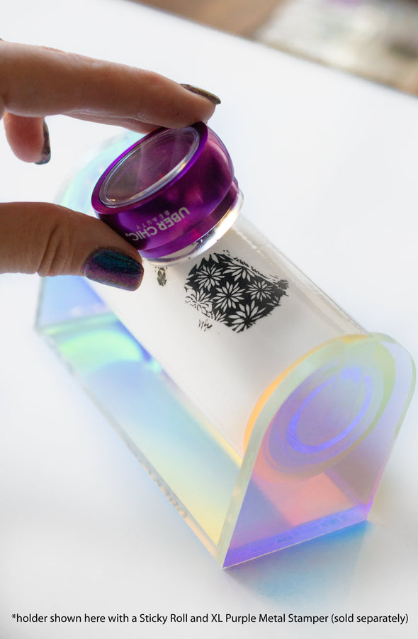 Sticky Roll Iridescent Acrylic Holder