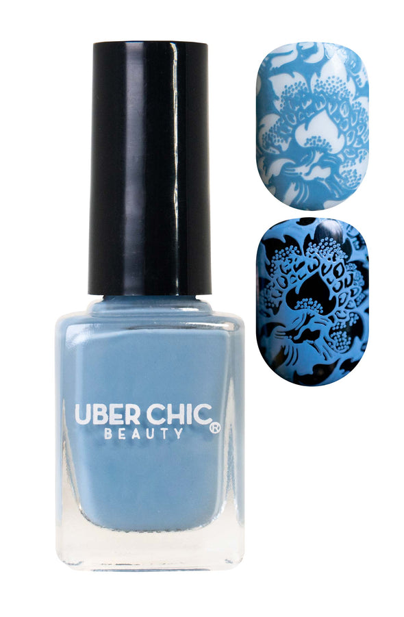 Partly Cloudy with a Chance of Glam - Stamping Polish