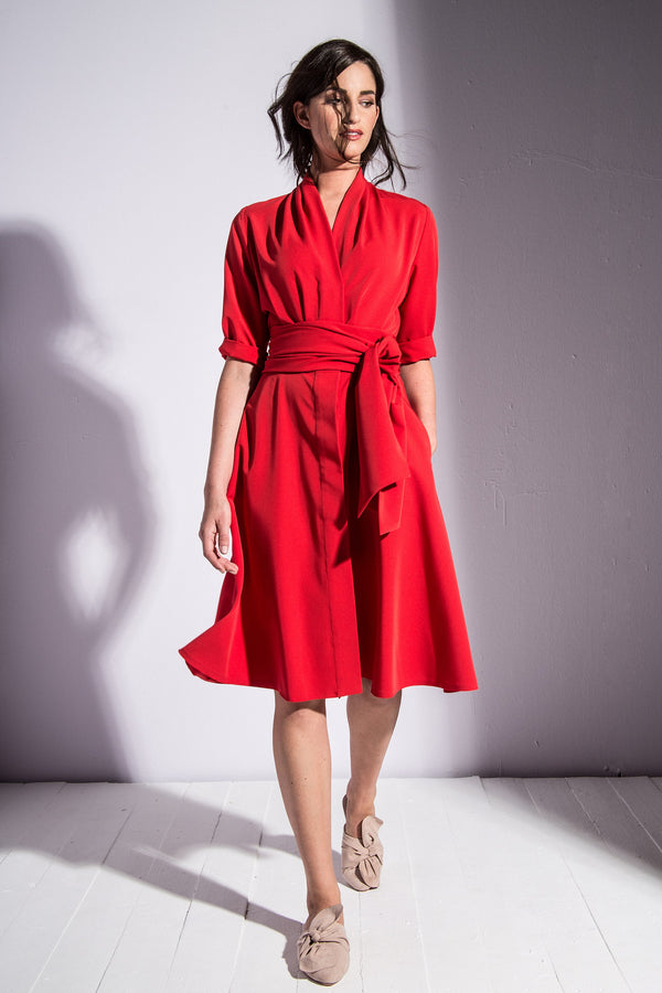Ava Dress Red