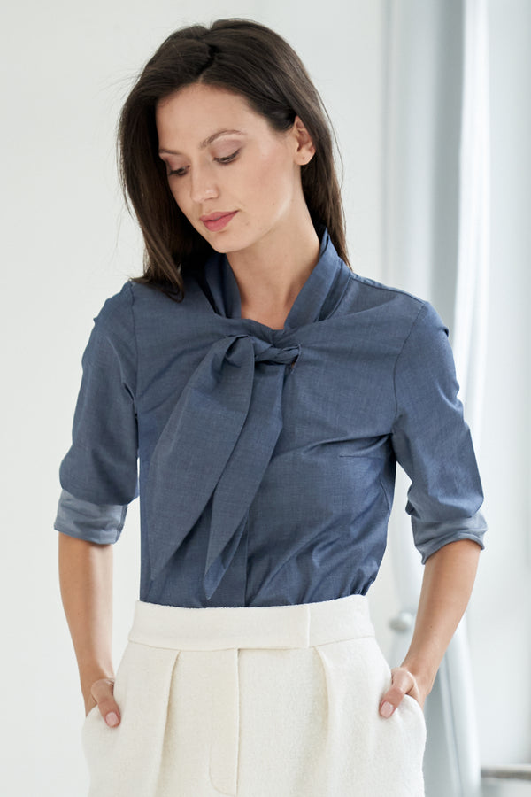 Lena Blouse Blue