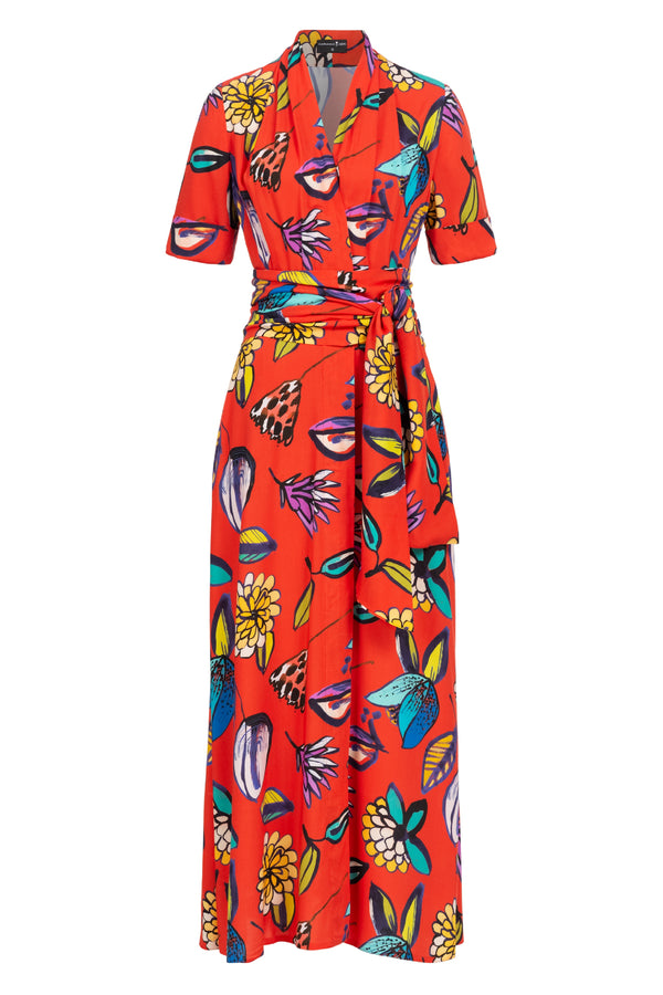 Lily Shirtdress Tropical Garden