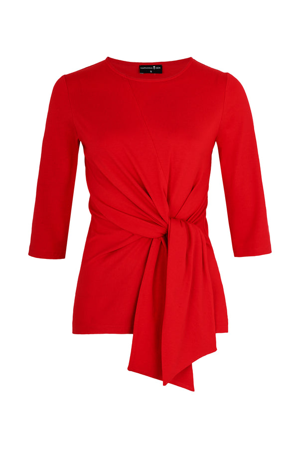Luna Wrap Top Red