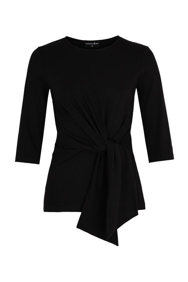 Luna Wrap Top Black