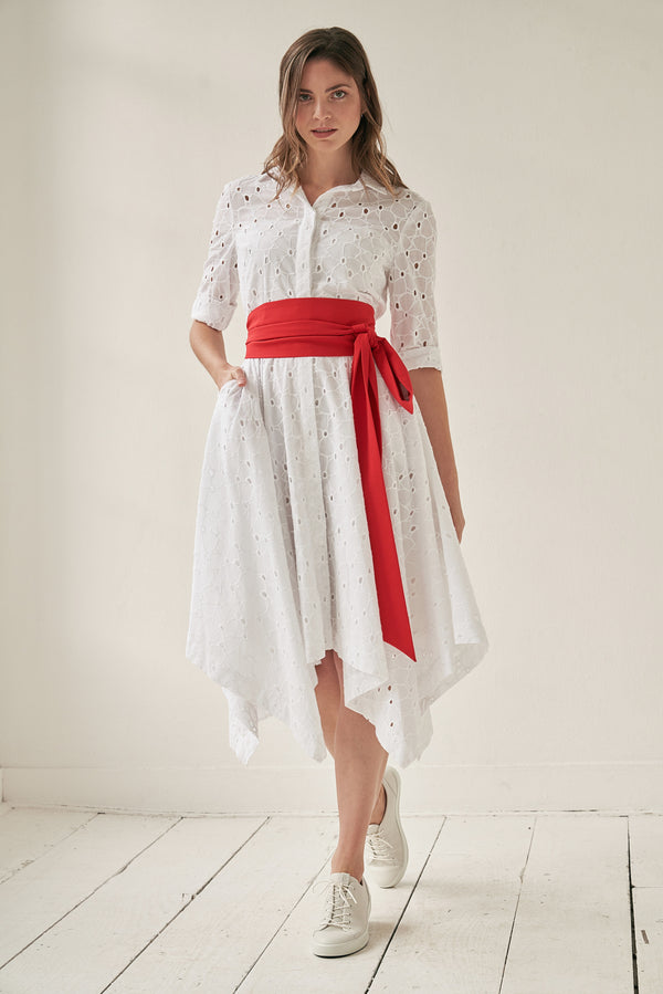 Laura Shirtdress Lace with Two Belts