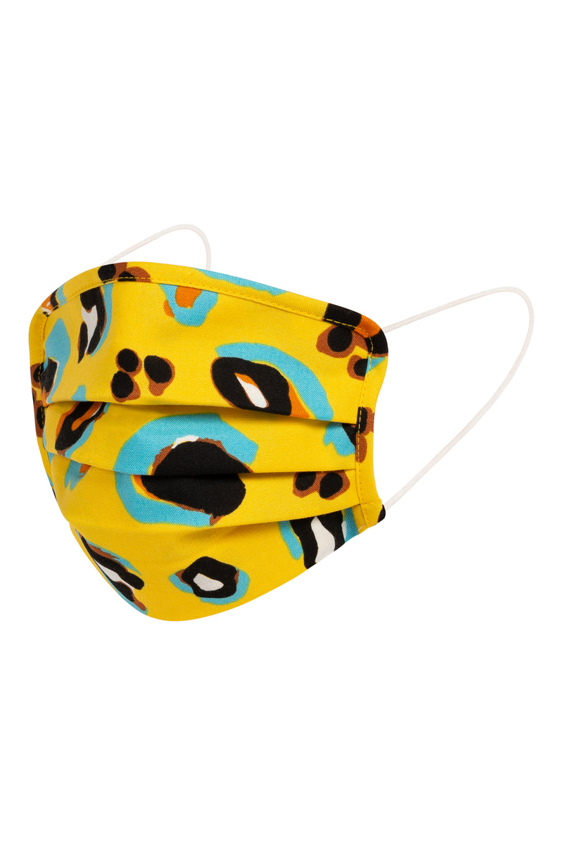 Mouth-Nose Mask Jungle Queen Yellow