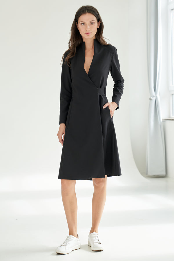 Wrap Dress Knee-length Black