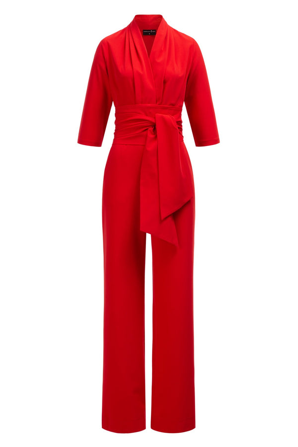 Zoe Jumpsuit Red