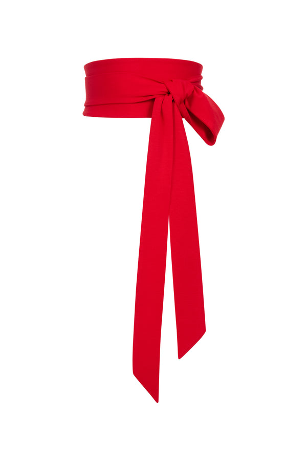Bea Tie Belt Red