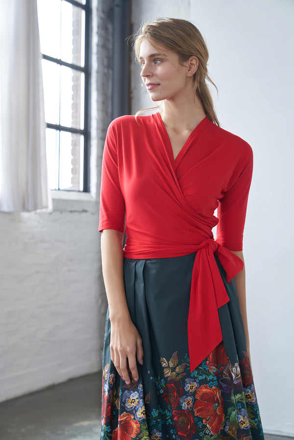 Wrap Top Red