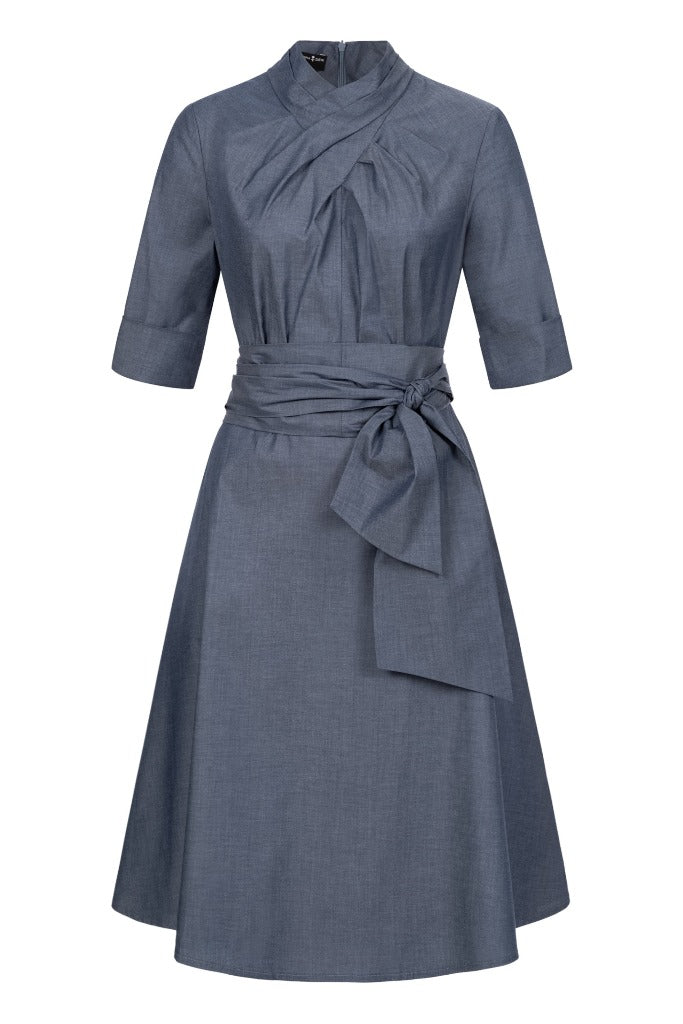 Franchesca Dress Blue with Two Belts