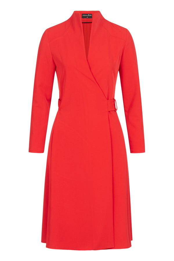 Wrap Dress Knee-length Red
