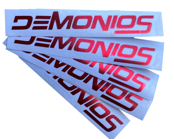 Stickers Demonios ROUGE CHROME (NOUVEAU LOGO)