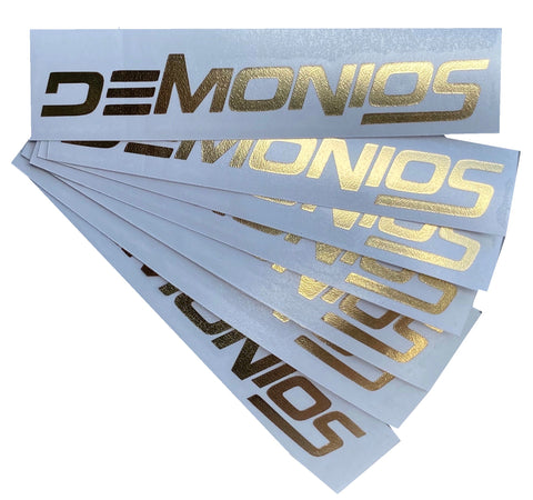 Stickers Demonios OR CHROME (NOUVEAU LOGO)