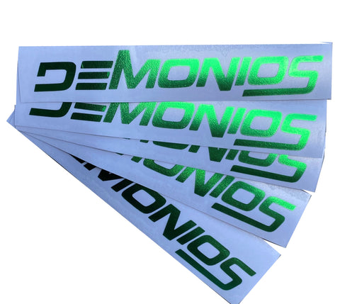 Stickers Demonios VERT CHROME (NOUVEAU LOGO)