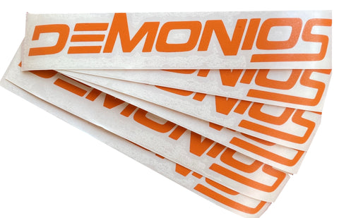 Stickers Demonios ORANGE (NOUVEAU LOGO)