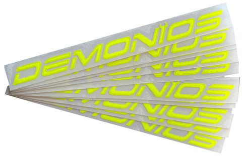 Stickers Demonios Jaune fluo (ANCIEN LOGO)