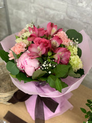 B34 - Pink Bouquet with Peony