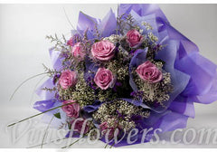 B21 - 1 Dozen Individual Light Purple Roses