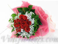 B11 - 1 Dozen Grouped Red Roses
