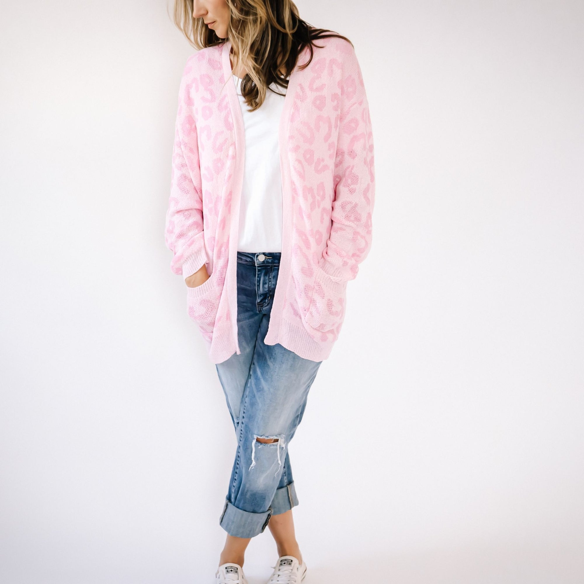 Pink Leopard Cardi-Avis Lane Boutique-Avis Lane Boutique-Justin, Texas