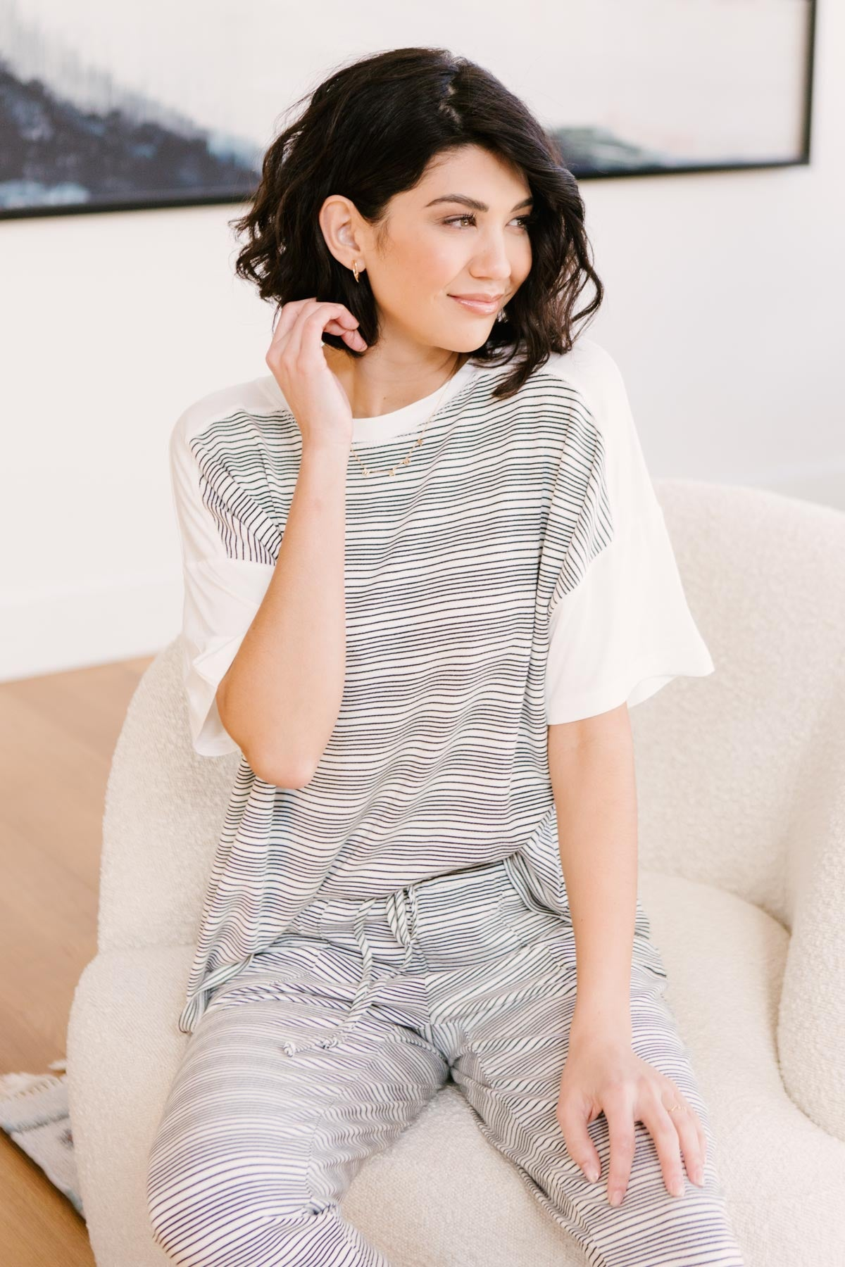Cozy In Stripes Top-Ave Shops-Avis Lane Boutique-Justin, Texas