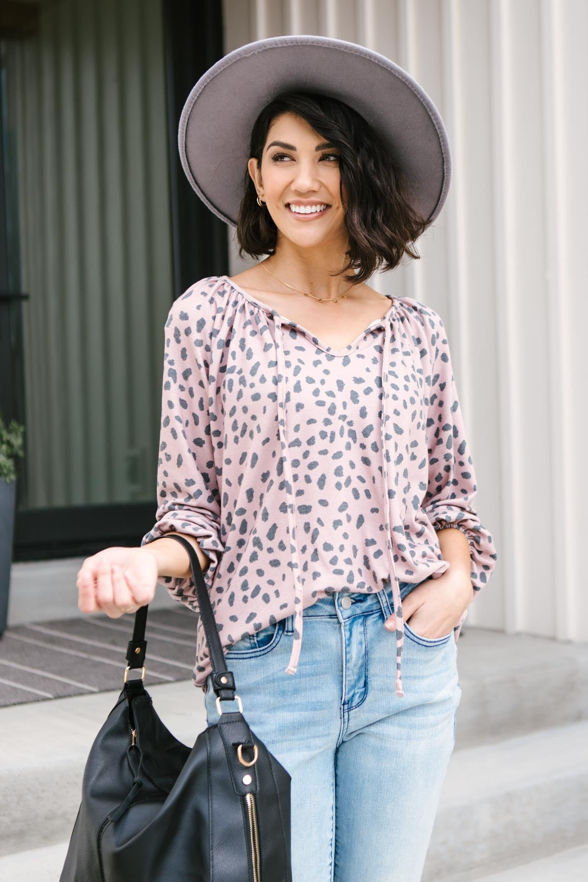 The Allie Animal Print Top-Ave Shops-Avis Lane Boutique-Justin, Texas