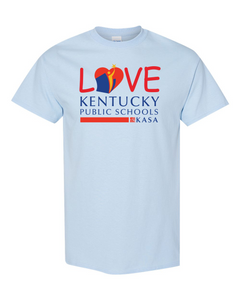 Love Kentucky Public Schools Tee - Light Blue