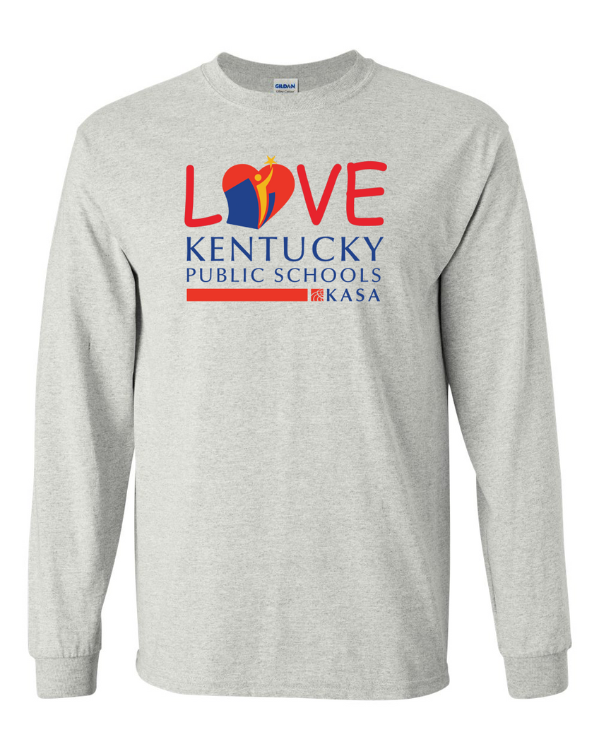 Love Kentucky Public Schools Long Sleeve Tee - Ash